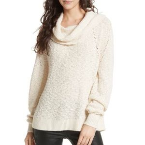Free People By Your Side Cowl Neck Sweater